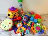 Selection of 0-12months baby toys
