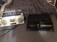 2 vintage boombox the tape don't work on both of them