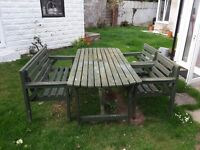 . Garden table and chairs.