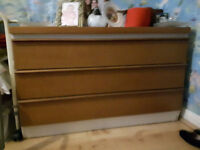 Chest of Drawers - Brown 3 drawers