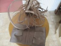 Phase Eight Clutch Bag and Fascinator