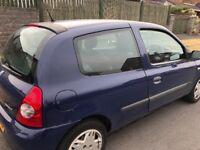 Renault Clio 57 Plate Navy Blue. Brand new MOT