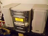 panasonic 5cd changer hi fi music system