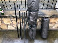 Nash Scope brolly/ overwrap includes groundsheet and storm poles
