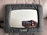 Lindam Adjustable Car Mirror for rear facing car seat. Pivots to get best angle of the child