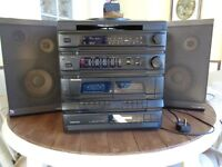 Murphy Digital compact disc player/radio/record and twin deck cassette player