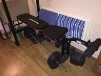 Weights Bench & weights by Maximuscle