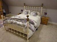 King Size metal bed frame and mattress ( John Lewis)