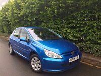 Blue Peugeot 307, good condition