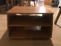 Tv stand, pine coloured, £5