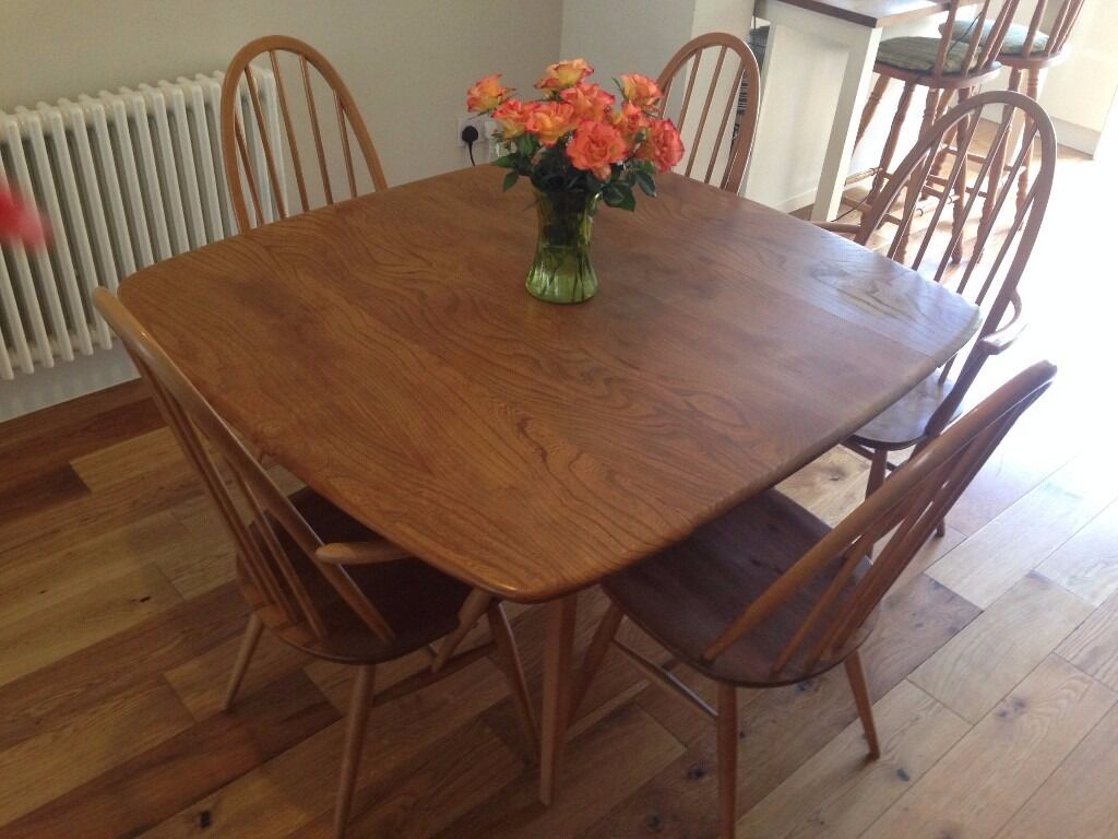 Ercol Dining Table And Chairs In East London London