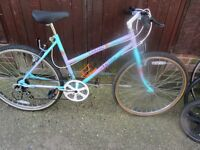 ladies raleigh mountain bike with lock £45.00