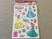 Disney Princess Christmas Window Stickers New