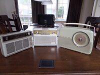 Philips x 2 + Bush vintage transistor radios for restoration or display!