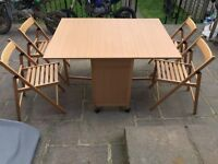 SPACESAVER DINING ROOM TABLE AND CHAIRS