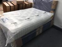New Silentnight four drawer divan with pocket 4000 spring mattress
