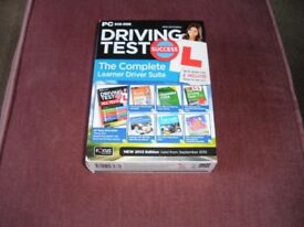 Driving test DVD suite and universal suction mirror