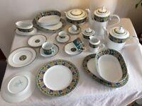 Noritake Brandywine fine porcelain dinner service 10 -12 place settings, dinner, tea and coffee sets