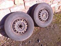 2 Van Tyres 225-70-15 Tigar Cargospeed All Season VGC