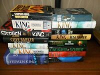 Selection of 15 Stephen King and Clive Barker Books