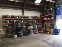 NEW AND PART WORN TYRES FOR SALE BUSINESS 450+ TYRES NEW AND USED TYRE RACK FREE