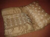 Bed runner/throw and cushion