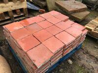 9x9 Terracotta quarry tiles