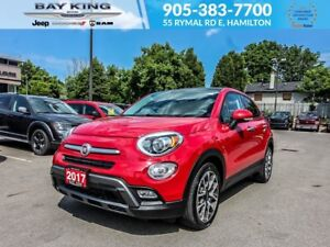 "2017 Fiat 500X TREKKING, BACKUP CAM, SUNROOF, 18"" WHEELS, BLUETO"