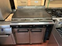 GAS FLAT GRILL 90 CM UNDER OVEN CATERING COMMERCIAL KITCHEN FAST FOOD RESTAURANT SHOP BBQ