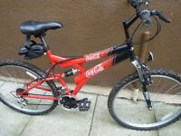 ADULT COCA COLA MOUNTAIN BIKE, EXCELLENT CONDITION, NICE BIKE , BARGAIN £50, CAN DELIVER