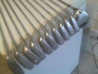For sale left handed golf clubs & new bag