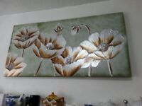 Large poppy painting on canvas