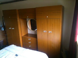 Bedroom units. 2 double wardrobes, dresser , drawers
