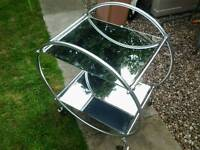 Lovely chrome original art deco cocktail drinks trolly colapseable