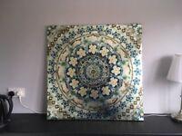 Mandala Print Wall Art   80x80cm   from Next   *only £10*