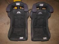 OMP Bucket Seats Rally Track Car