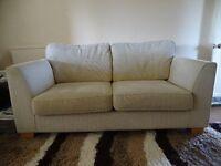 Three-seater sofas (two) - VGC