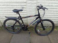 mens apollo aluminium lightweight bike, new mudguards, lights, ready to ride FREE DELIVERY