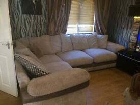 Beautiful grey fabric Harvey's corner sofa excellent condition can deliver locally