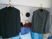 MENS CHARCOAL GREY SUIT AND GREY PIN STRIPE SUIT