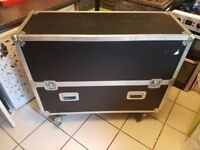 Large storage box on casters