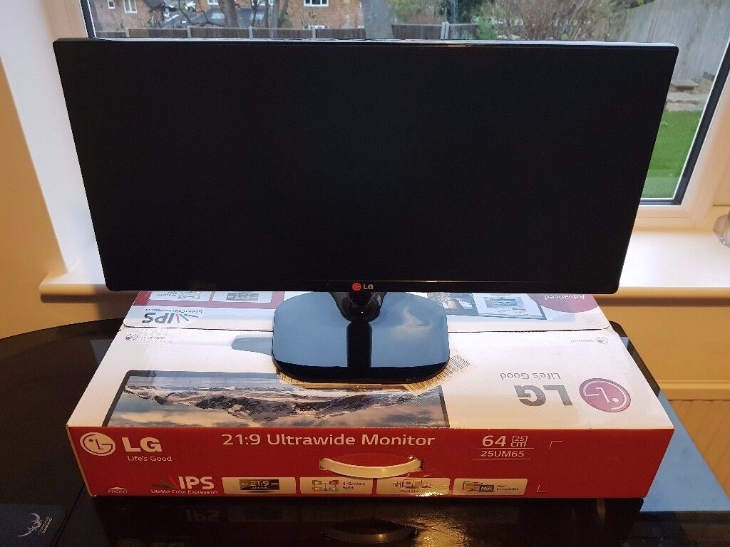 "LG 25"" Ultrawide Gaming Monitor - 25UM65-P (21:9 ratio) TV Television PC Computer"