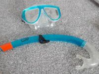 For sale Snorkle and goggles