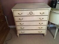 5 drawer french chest of drawers