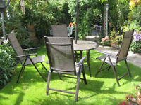 Large Garden table and chairs with umbrella - reduced !!!