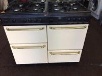 Creem belling 100cm gas cooker grill & double ovens good condition with guarantee