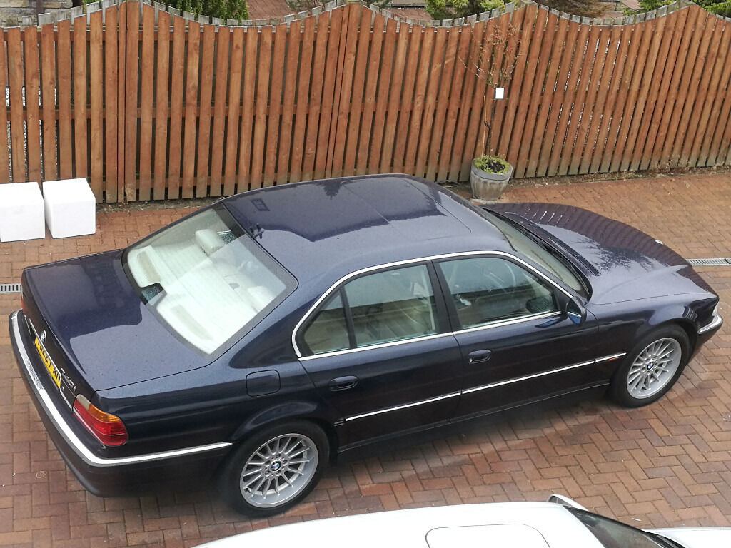 e38 bmw 740i blue with full beige interior 99 reg in. Black Bedroom Furniture Sets. Home Design Ideas