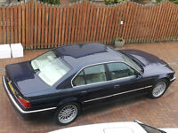 E38 Bmw 740i blue with full beige interior 99 reg