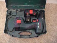 Bosch PSR 12V Drill & 2 Batteries in Case.