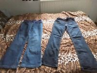 Maternity jeans size 10: two pairs